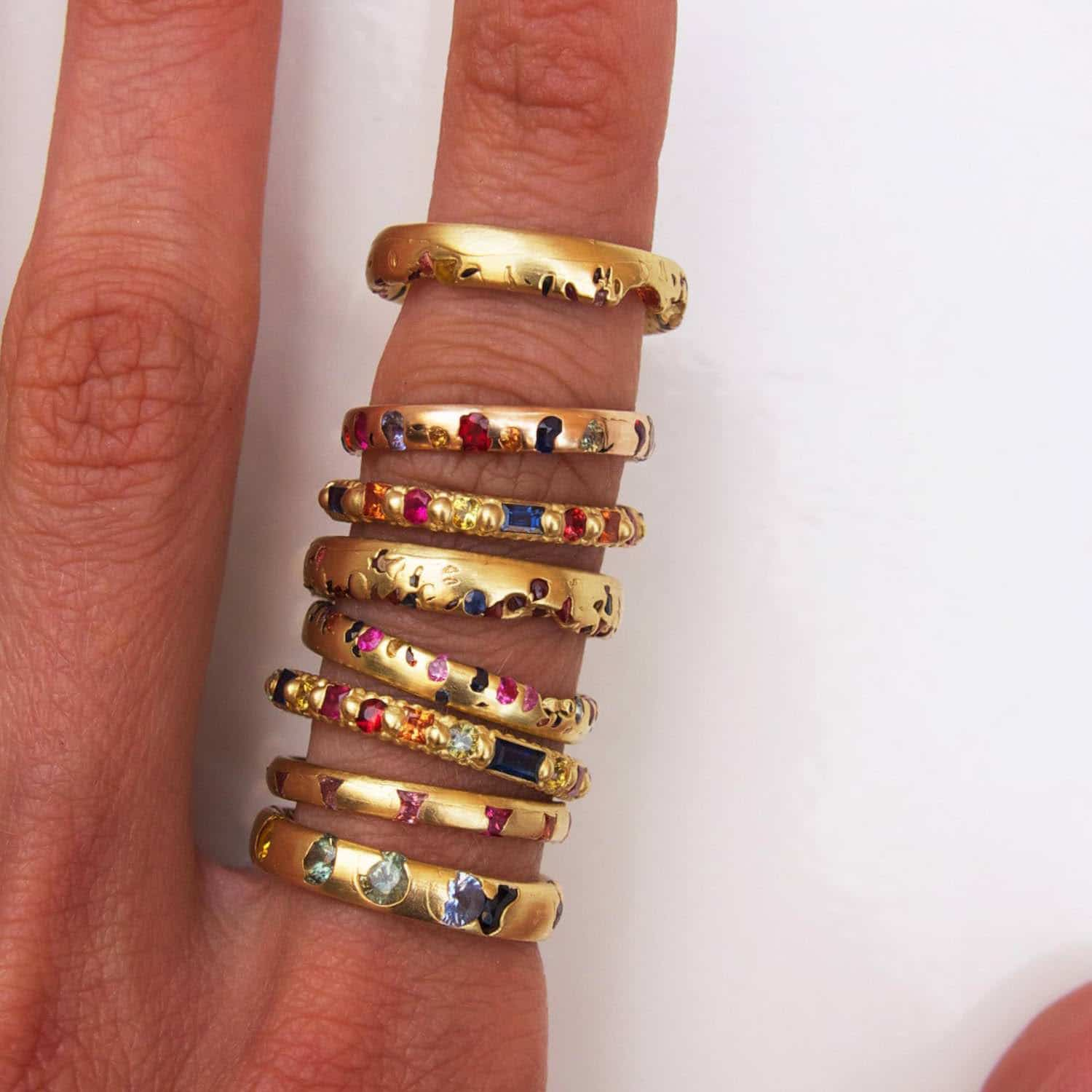 Eugene's NEWTW!ST Polly Wales rings
